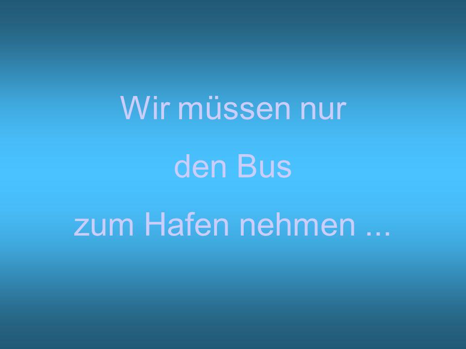 Wir müssen nur den Bus zum Hafen nehmen...