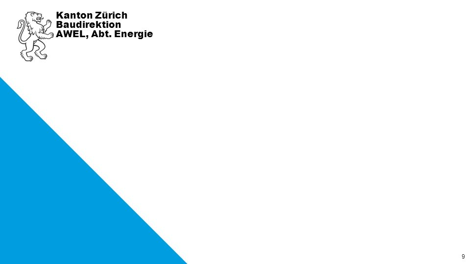 9 Kanton Zürich Baudirektion AWEL, Abt. Energie