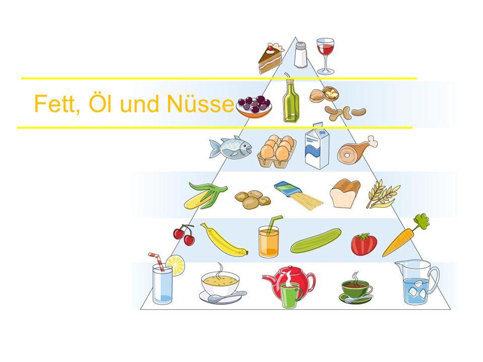 Fett, Öl und Nüsse