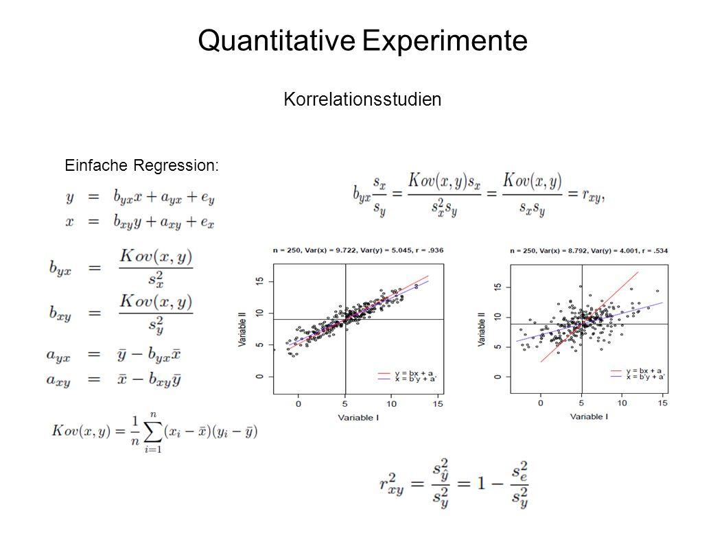 54 Quantitative Experimente Korrelationsstudien Einfache Regression: