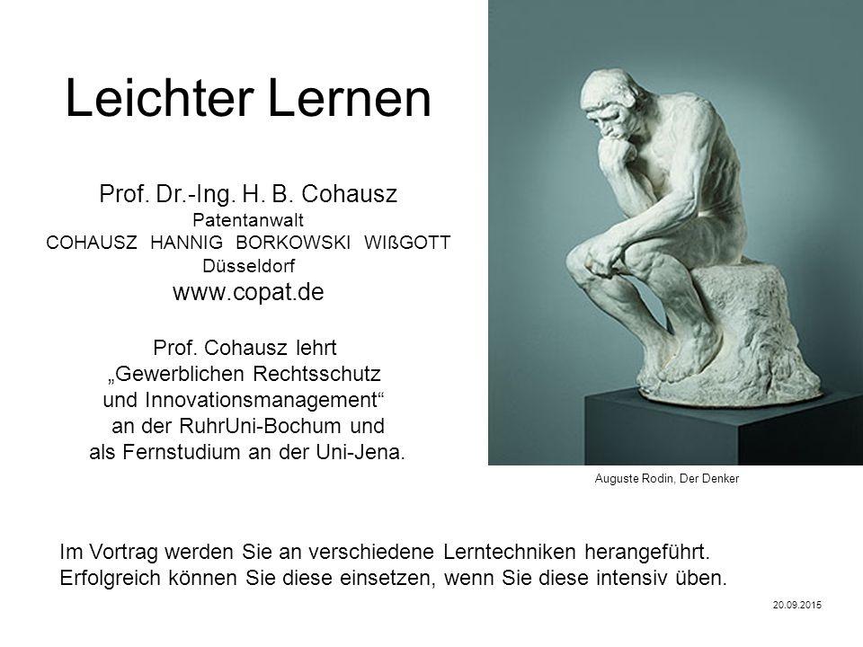 Patentanwalt Prof. Dr.-Ing. H. B.