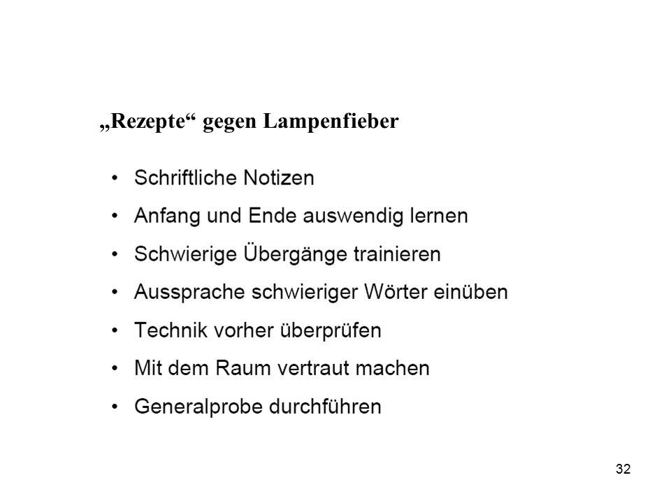 """""""Rezepte gegen Lampenfieber 32"""