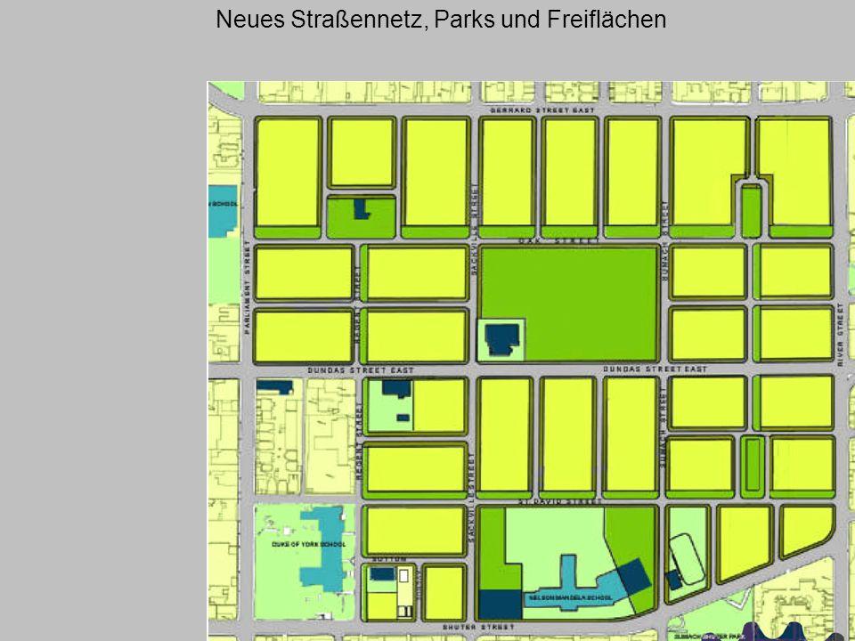 Neues Straßennetz, Parks und Freiflächen