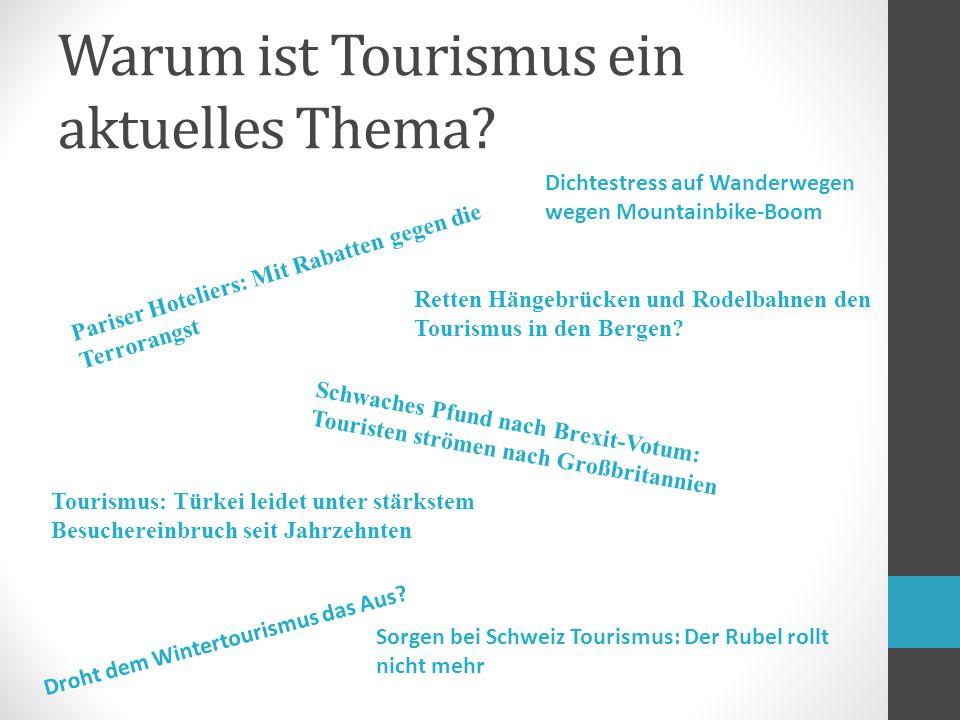 Warum ist Tourismus ein aktuelles Thema.
