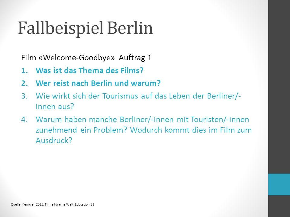 Film «Welcome-Goodbye» Auftrag 1 1.Was ist das Thema des Films.