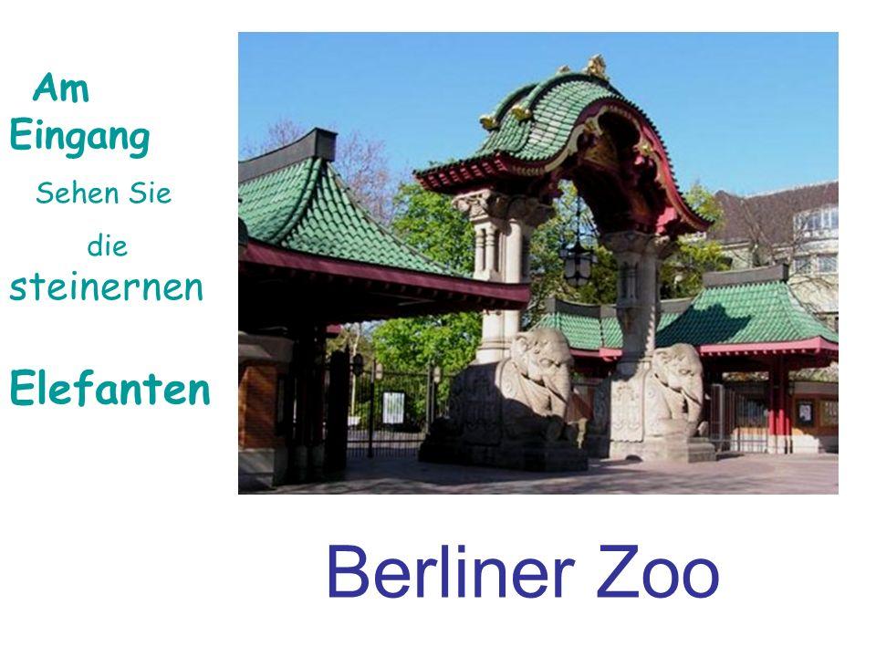 Berliner Zoo Am Eingang Sehen Sie die steinernen Elefanten