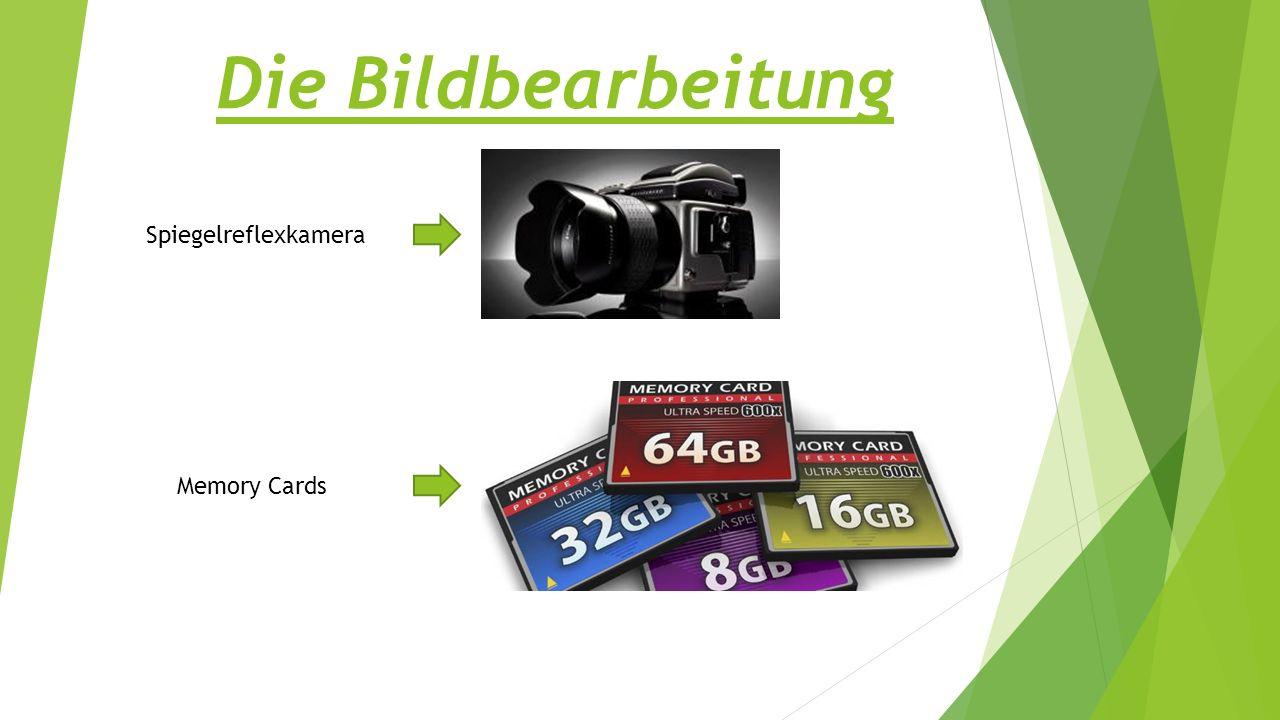 Die Bildbearbeitung Spiegelreflexkamera Memory Cards