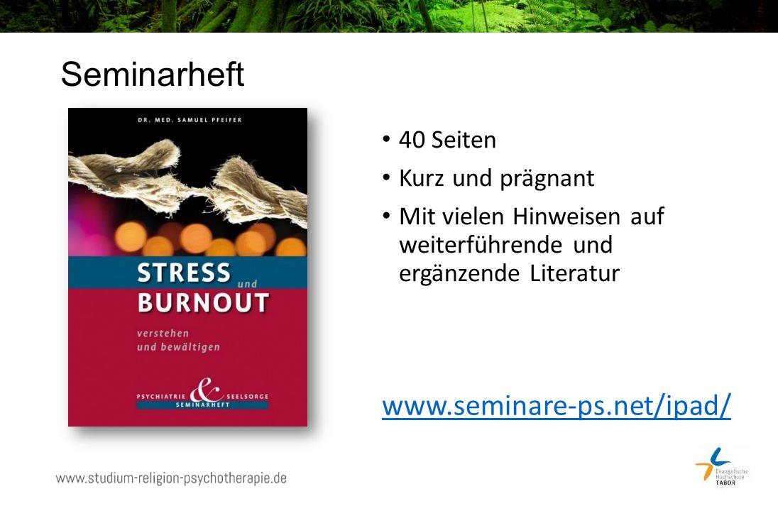 Seminarheft 40 Seiten Kurz und prägnant Mit vielen Hinweisen auf weiterführende und ergänzende Literatur www.seminare-ps.net/ipad/