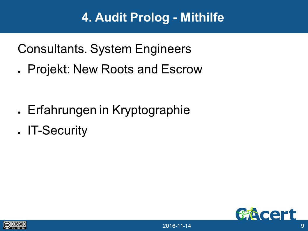 Audit Prolog - Mithilfe Consultants.