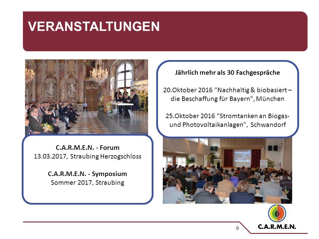 9 VERANSTALTUNGEN C.A.R.M.E.N. - Forum 13.03.2017, Straubing Herzogschloss C.A.R.M.E.N.