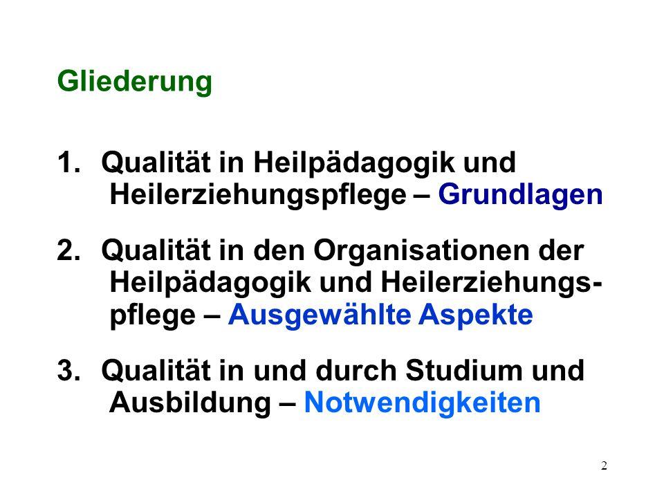 Qualität in Heilpädagogik und Heilerziehungspflege Heinrich Greving