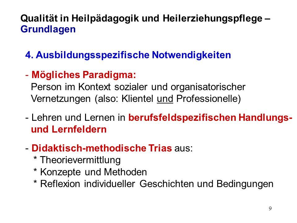 8 Qualität in Heilpädagogik und Heilerziehungspflege – Grundlagen 3.