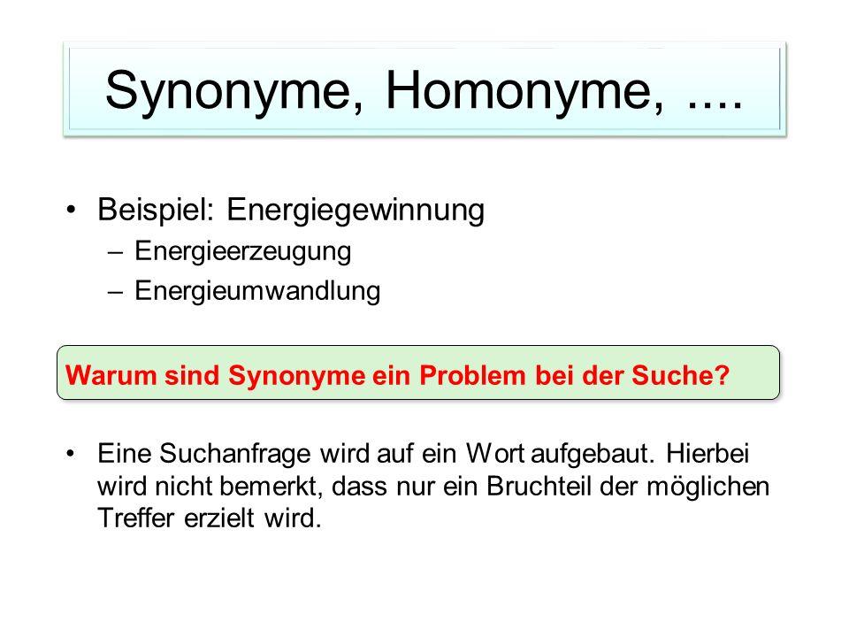 Synonyme, Homonyme,....