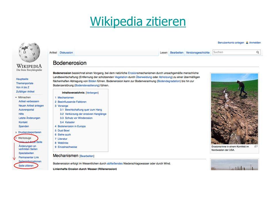 Wikipedia zitieren