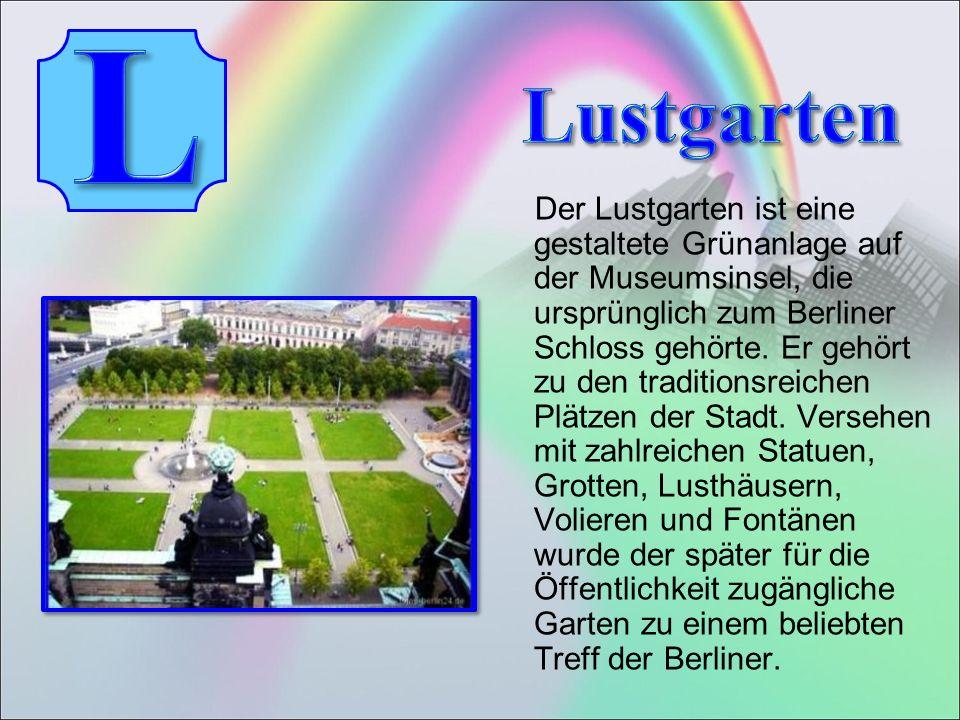 Der Lustgarten ist eine gestaltete Grünanlage auf der Museumsinsel, die ursprünglich zum Berliner Schloss gehörte.