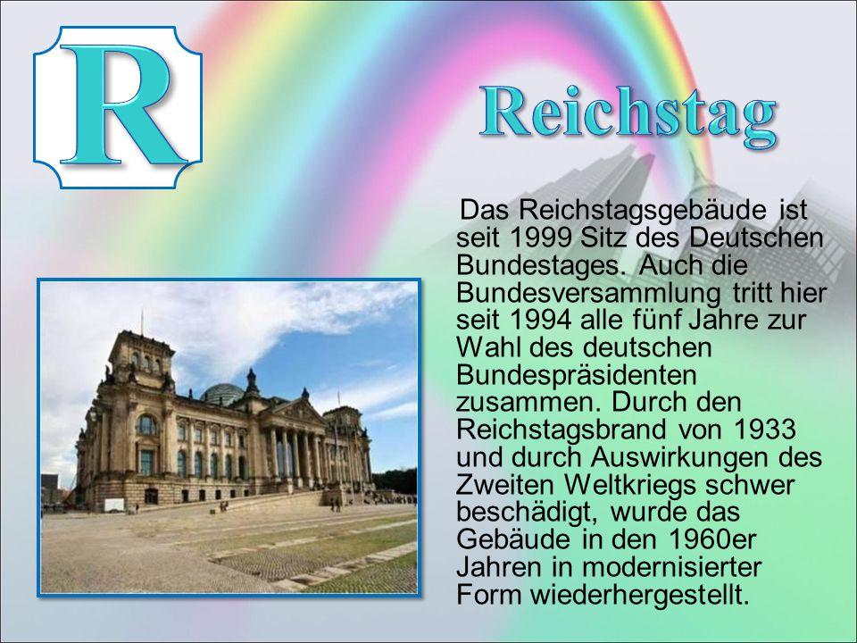 Das Reichstagsgebäude ist seit 1999 Sitz des Deutschen Bundestages.