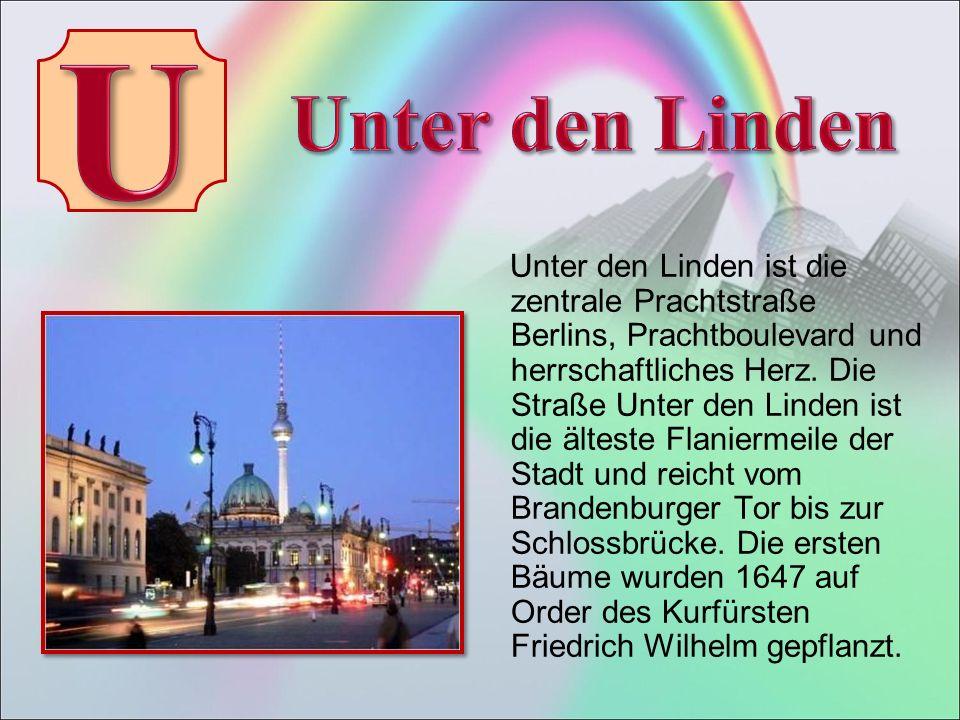 Unter den Linden ist die zentrale Prachtstraße Berlins, Prachtboulevard und herrschaftliches Herz.