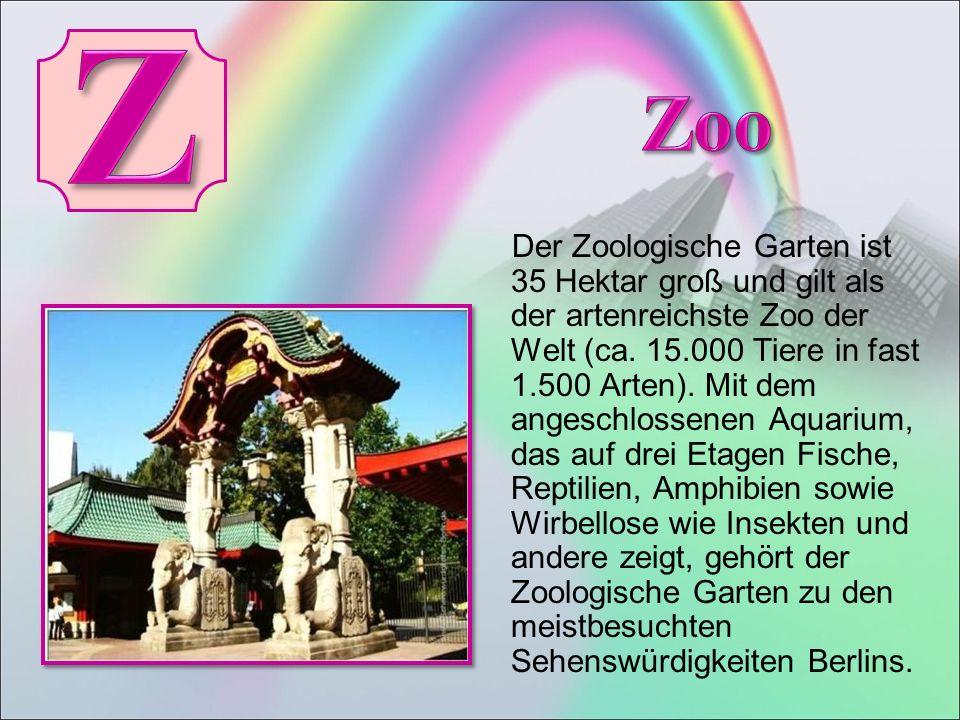 Der Zoologische Garten ist 35 Hektar groß und gilt als der artenreichste Zoo der Welt (ca.