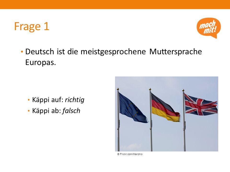 Deutsch ist die meistgesprochene Muttersprache Europas.