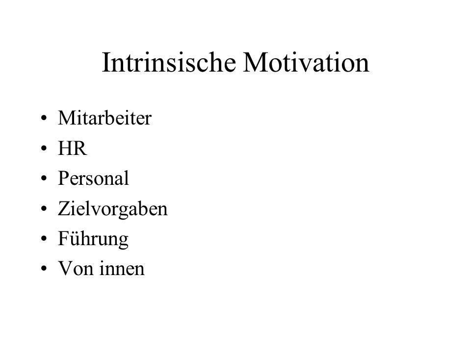 Intrinsische Motivation Mitarbeiter HR Personal Zielvorgaben Führung Von innen