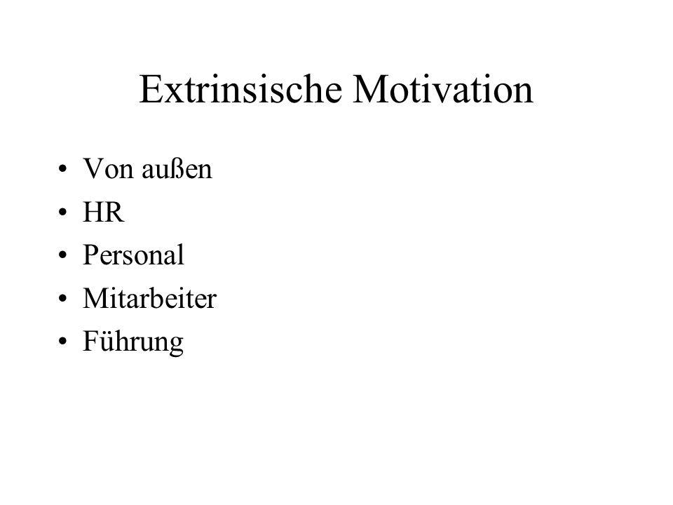 Extrinsische Motivation Von außen HR Personal Mitarbeiter Führung