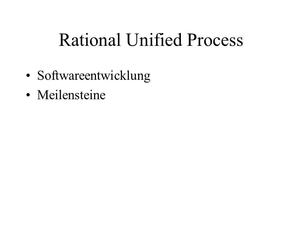 Rational Unified Process Softwareentwicklung Meilensteine