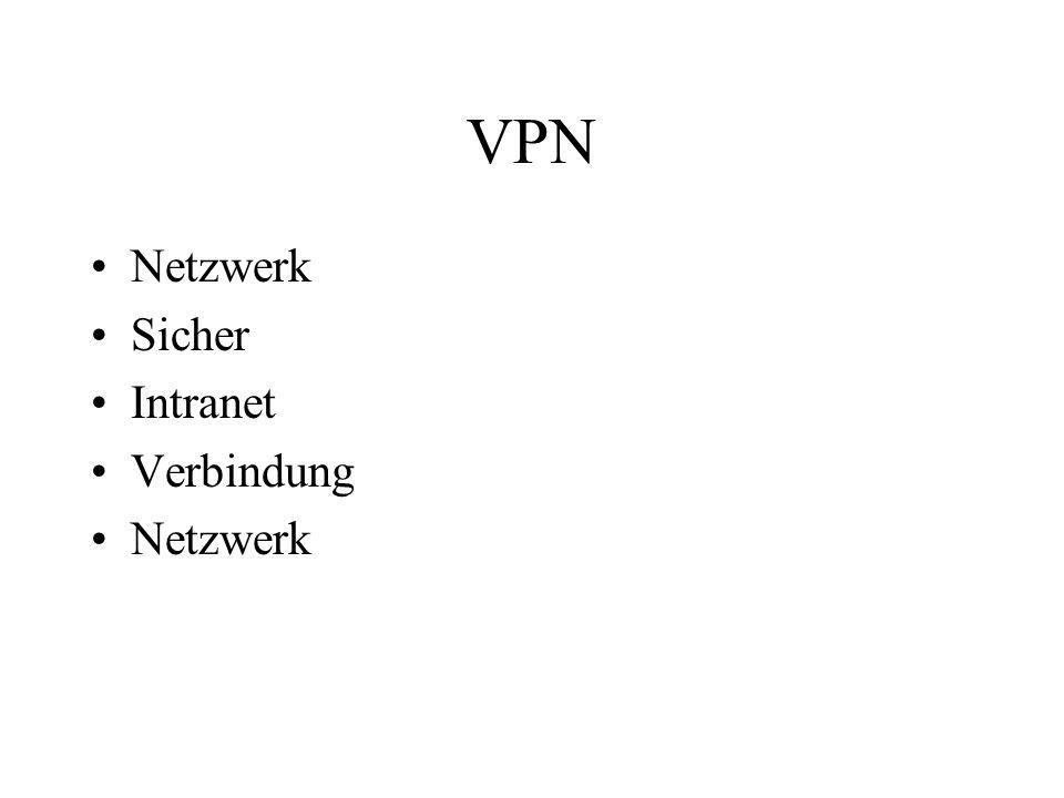 VPN Netzwerk Sicher Intranet Verbindung Netzwerk