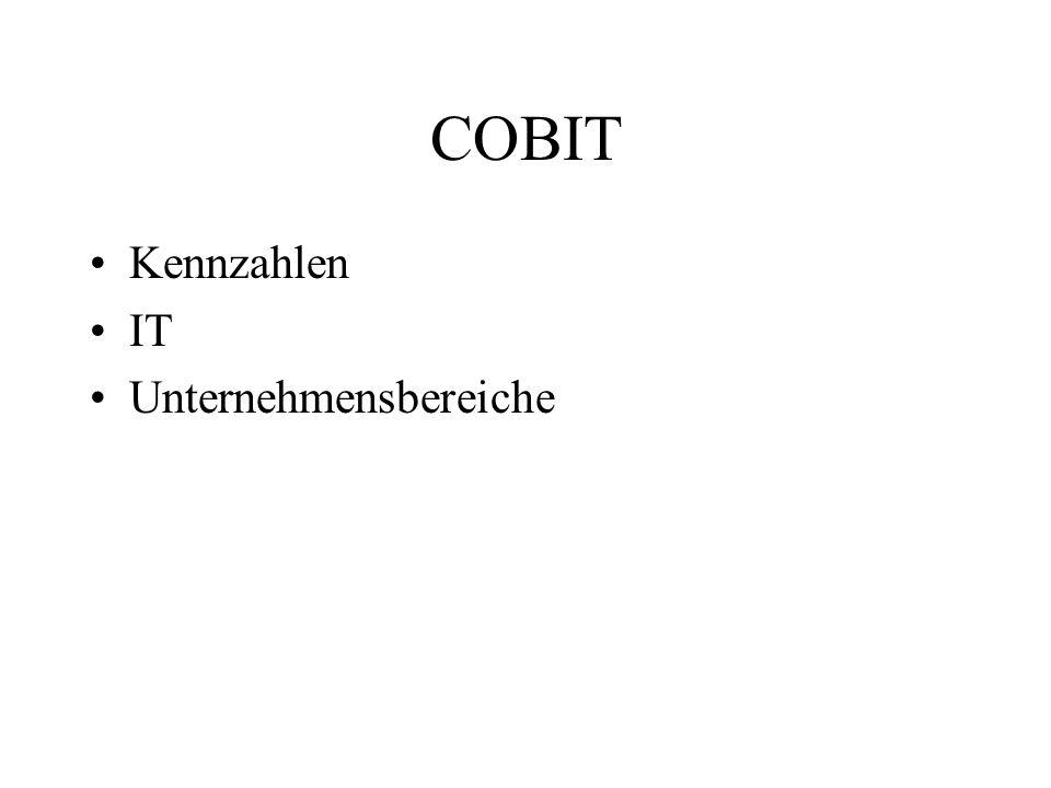 COBIT Kennzahlen IT Unternehmensbereiche