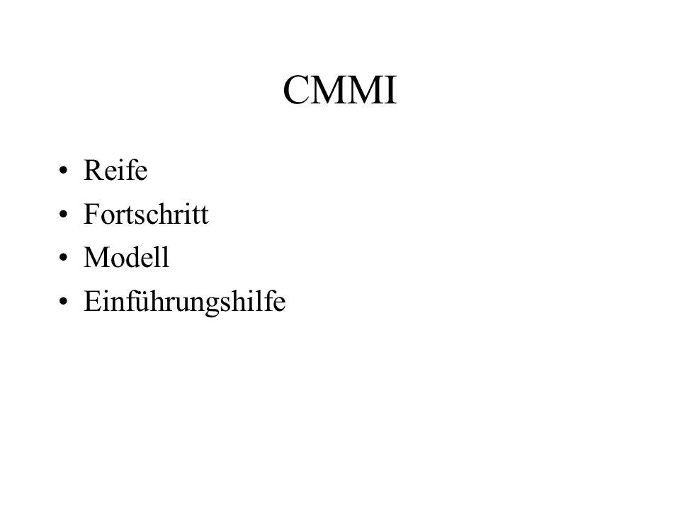 CMMI Reife Fortschritt Modell Einführungshilfe