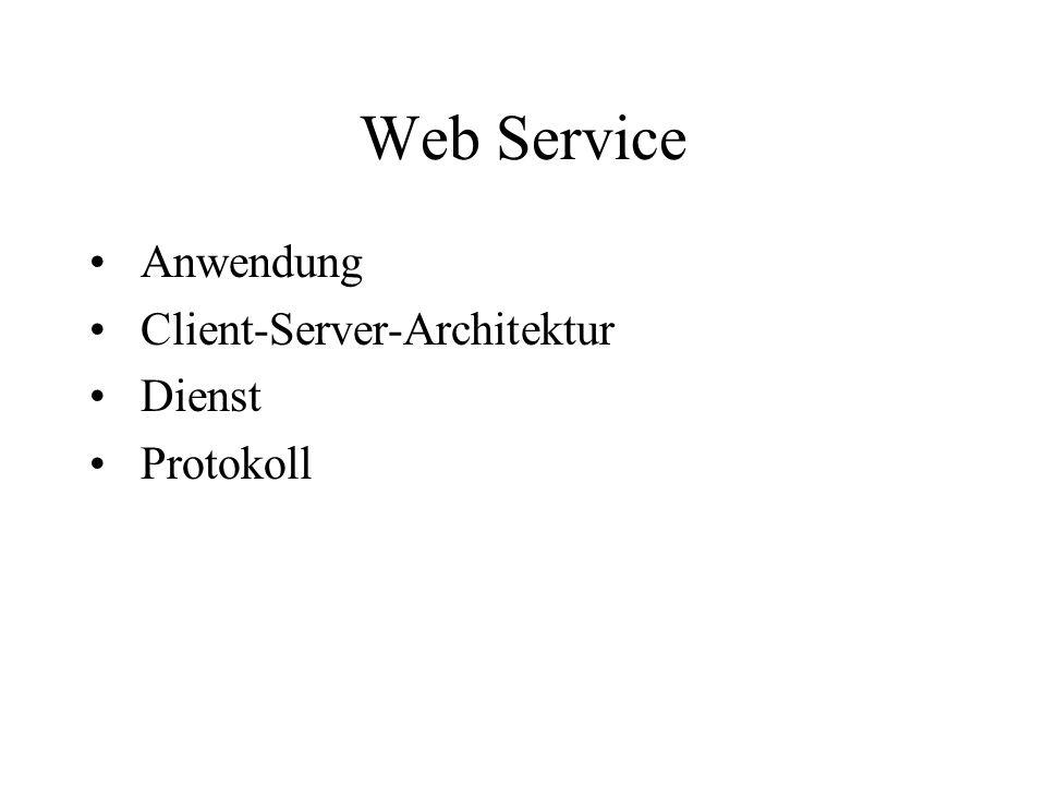 Web Service Anwendung Client-Server-Architektur Dienst Protokoll
