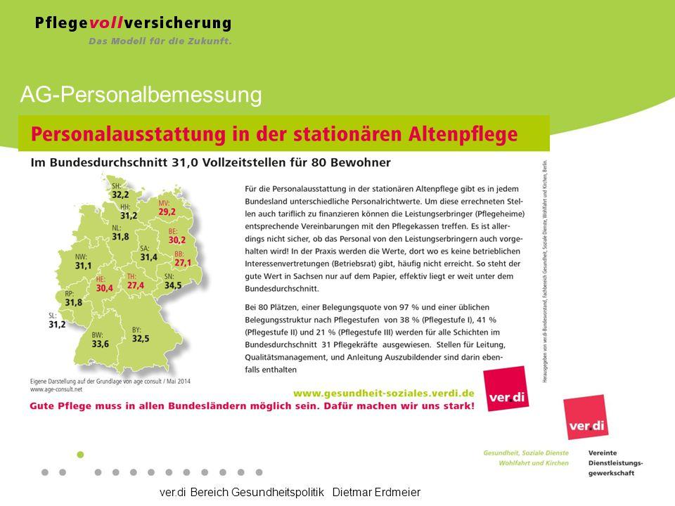 ver.di Bereich Gesundheitspolitik Dietmar Erdmeier AG-Personalbemessung