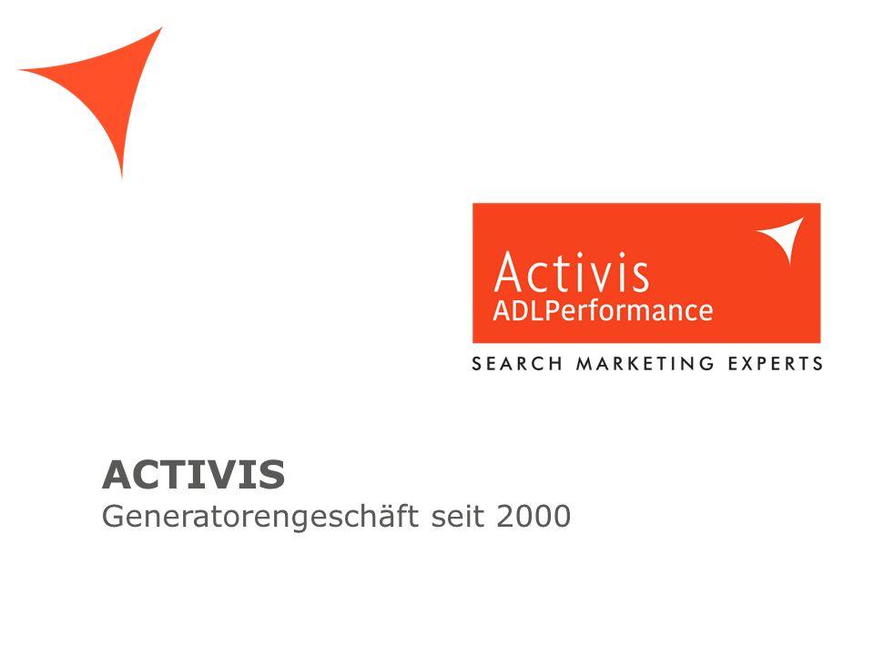 ACTIVIS Generatorengeschäft seit 2000