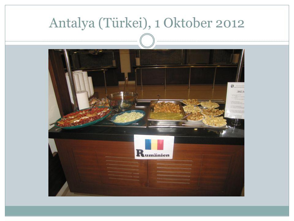 Antalya (Türkei), 1 Oktober 2012