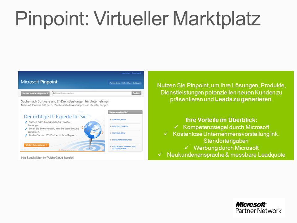 Nutzen Sie Pinpoint, um Ihre Lösungen, Produkte, Dienstleistungen potenziellen neuen Kunden zu präsentieren und Leads zu generieren.
