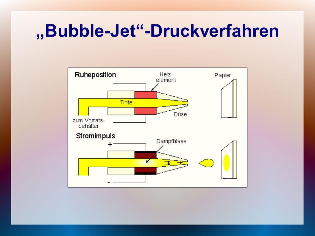 """Bubble-Jet -Druckverfahren"