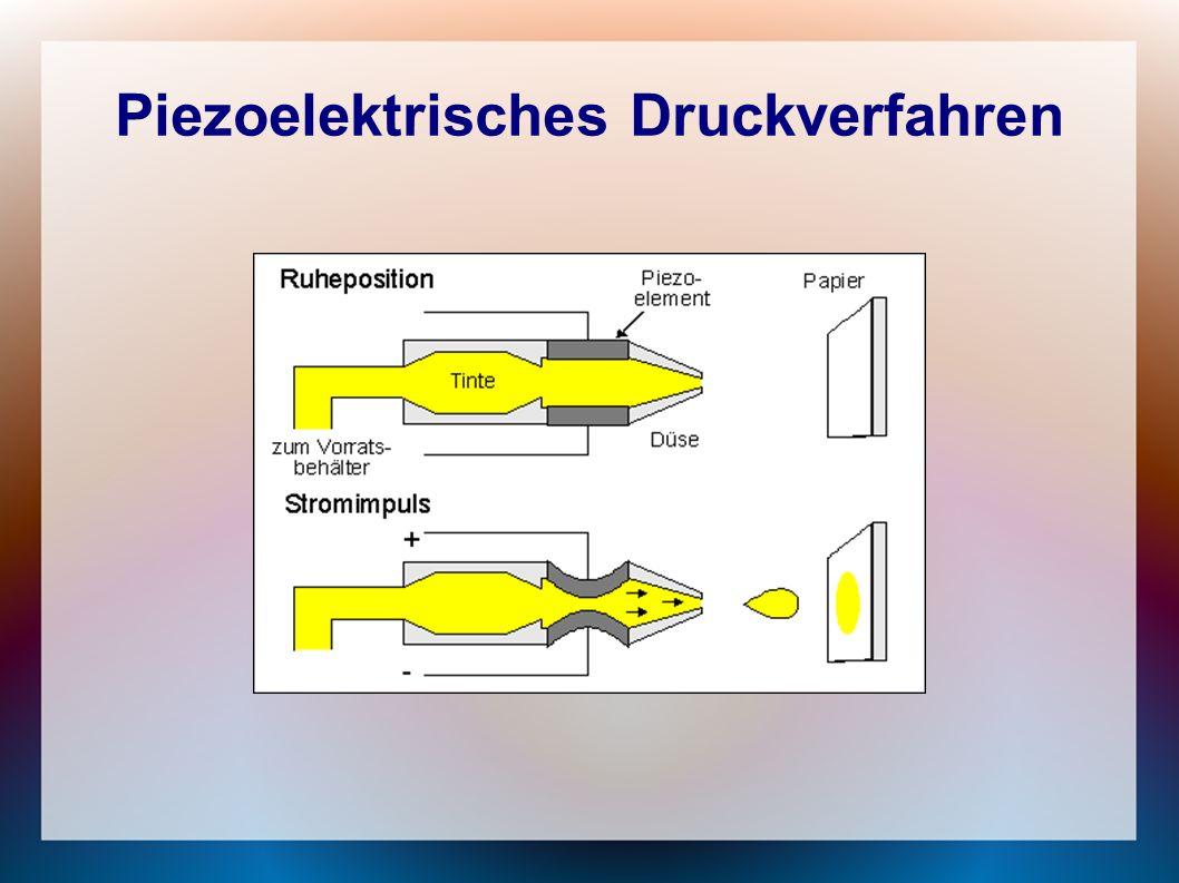 Piezoelektrisches Druckverfahren