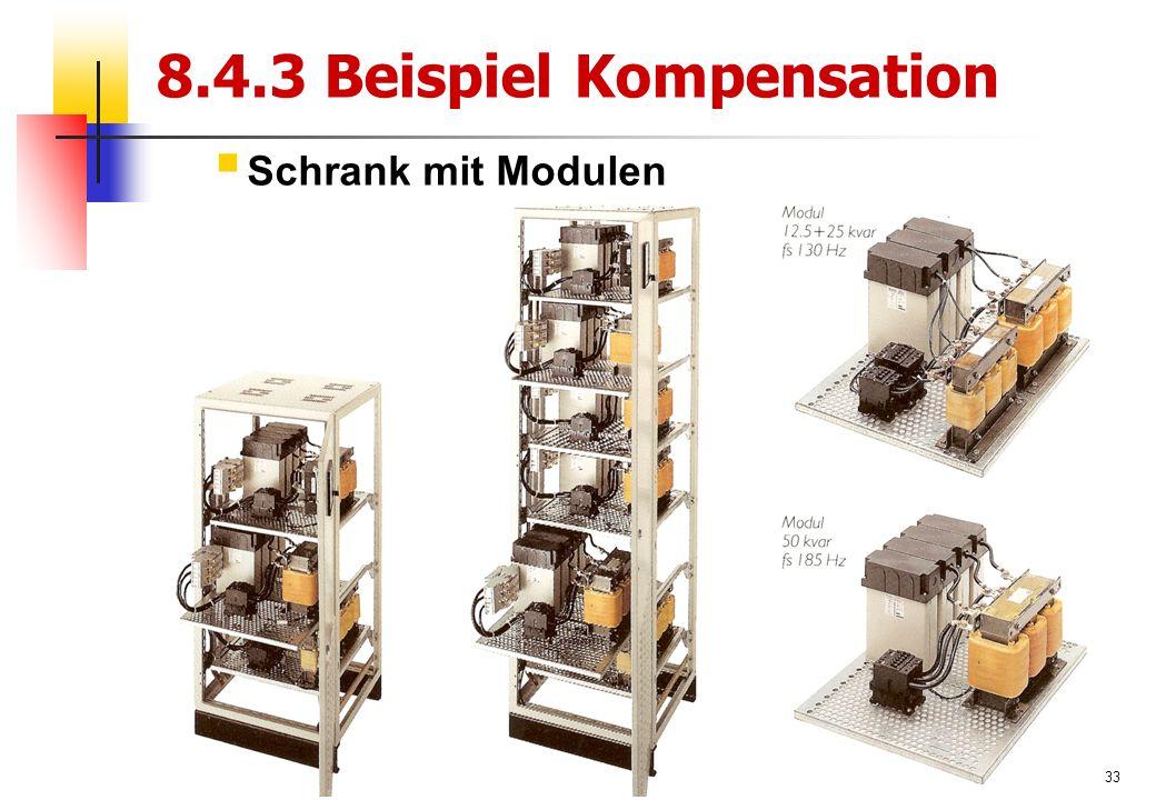 33 8.4.3 Beispiel Kompensation  Schrank mit Modulen