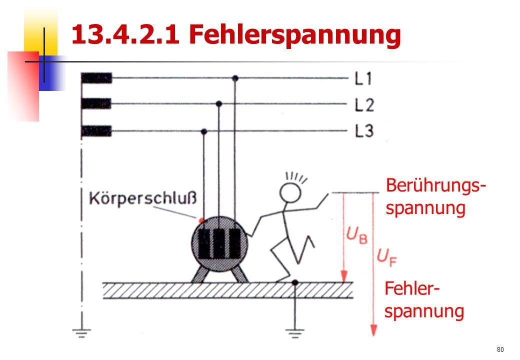 80 13.4.2.1 Fehlerspannung Berührungs- spannung Fehler- spannung