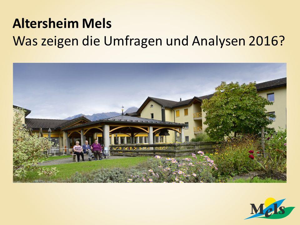 Altersheim Mels Was zeigen die Umfragen und Analysen 2016