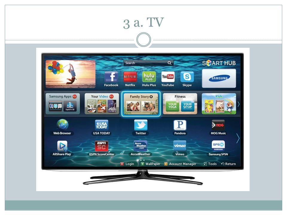 3 a. TV