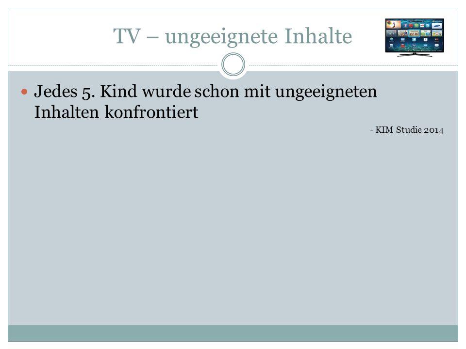 TV – ungeeignete Inhalte Jedes 5.