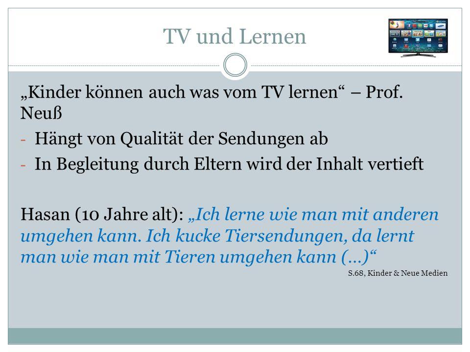 """TV und Lernen """"Kinder können auch was vom TV lernen – Prof."""