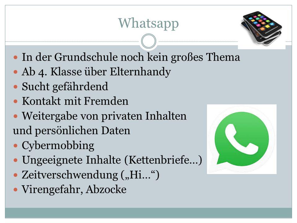 Whatsapp In der Grundschule noch kein großes Thema Ab 4.