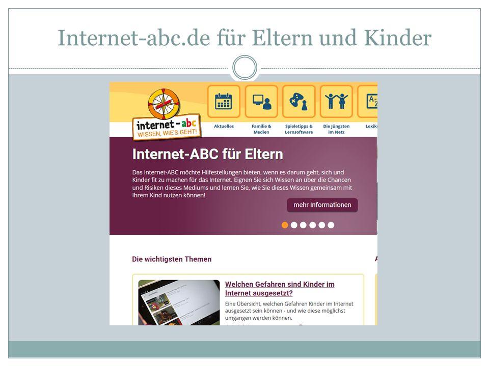 Internet-abc.de für Eltern und Kinder