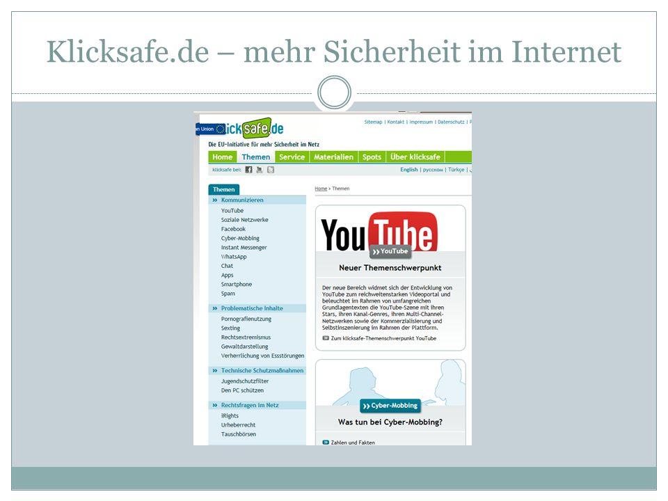 Klicksafe.de – mehr Sicherheit im Internet