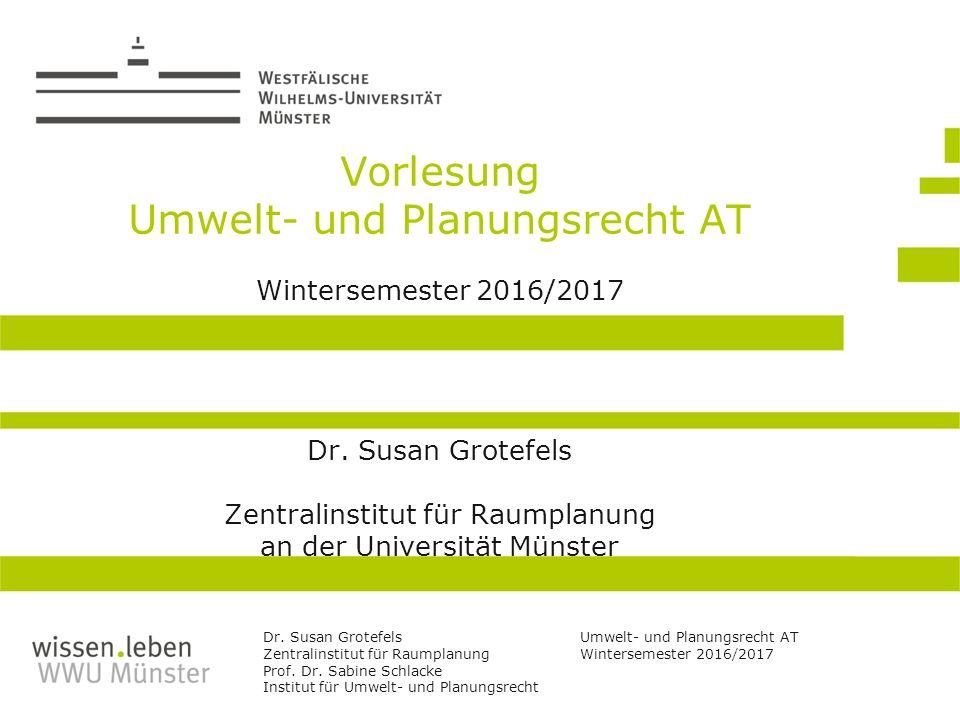 Umweltrecht Wintersemester 2014/2015 Prof. Dr.