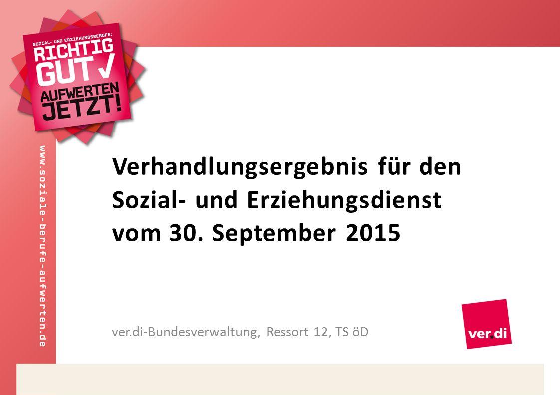 Verhandlungsergebnis für den Sozial- und Erziehungsdienst vom 30.
