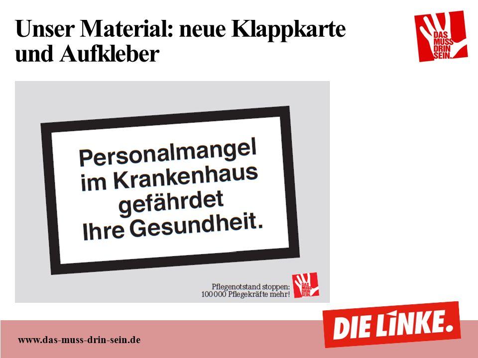 www.das-muss-drin-sein.de Unser Material: neue Klappkarte und Aufkleber