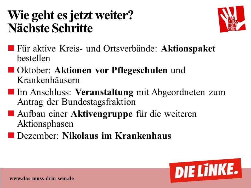 www.das-muss-drin-sein.de Wie geht es jetzt weiter.