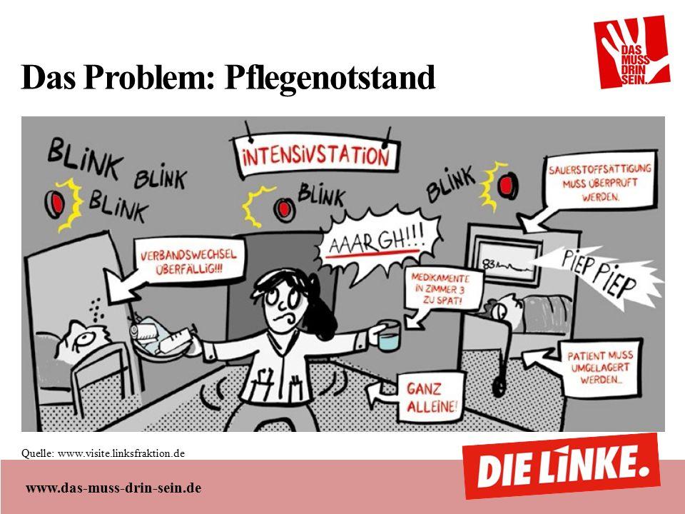 www.das-muss-drin-sein.de Das Problem: Pflegenotstand Quelle: www.visite.linksfraktion.de